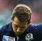 NEWCASTLE, ENGLAND - OCTOBER  10:  Greig Laidlaw of Scotland kicks a conversion during the 2015 Rugby World Cup Pool B match between Samoa and Scotland at St James Park on October 10, 2015 in Newcastle, England. (Photo by Ian MacNicol/Getty Images)