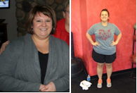 Weight Lost: 26lbs Body Fat Lost: 3.5% Inches Lost 15.1 Total Inches ...in just 12 weeks!