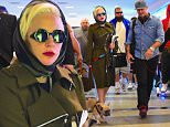 EXCLUSIVE: Lady Gaga and Taylor Kinney were spotted together in NYC Saturday afternoon after flying in from Chicago. Gaga walked with her two French Bulldogs as they walked through Laguardia Airport. She wore a Belted Olive Green Trench Coat with a scarf wrapped around her head, while Taylor dressed casually in a jean shirt. \n\nPictured: Lady Gaga, Taylor Kinney\nRef: SPL1148524  101015   EXCLUSIVE\nPicture by: 247PAPS.TV / Splash News\n\nSplash News and Pictures\nLos Angeles: 310-821-2666\nNew York: 212-619-2666\nLondon: 870-934-2666\nphotodesk@splashnews.com\n