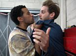 FROM ITV\n\nSTRICT EMBARGO - No Use Before Sunday 11 October 2015\n\nCoronation Street - Ep 8754\n\nMonday 19 October 2015 - 2nd Ep\n\nJamie [JAMES ATHERTON] calls in the garage and tells Luke Britton [DEAN FAGAN] he?s put him down to race on Saturday. Luke refuses, explaining he?s promised Maria he won?t race again. But Jamie tells Luke he needs cash from the race to clear his mounting debts. Luke?s aghast when Jamie shows him some old photos of a scantily clad Steph on his phone and threatens to make them public unless Luke cooperates!\n\nPicture contact: david.crook@itv.com on 0161 952 6214\n\nPhotographer - Joseph Scanlon\n\nThis photograph is (C) ITV Plc and can only be reproduced for editorial purposes directly in connection with the programme or event mentioned above, or ITV plc. Once made available by ITV plc Picture Desk, this photograph can be reproduced once only up until the transmission [TX] date and no reproduction fee will be charged. Any subsequent usage may incur a fe