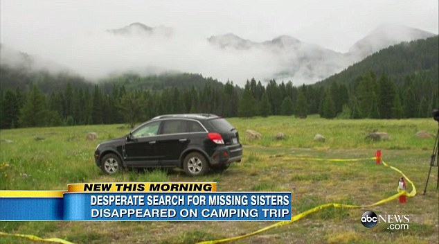 Clue:The sisters' black 2008 Saturn Vue with Wisconsin license plates was found at a trailhead near Bridger-Teton National Forest on Wednesday