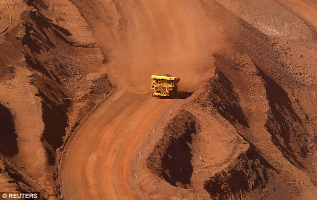 Digging down: The main drag on the FTSE 100 index was continued falls by heavyweight mining stocks after weaker copper output figures from Chilean firm Antofagasta