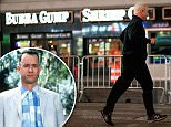"Tom Hanks was spotted filming ""Sully"" in Times Square in the early hours of Thursday morning. He ran , much like his former character, Forrest Gump. His current role and his past role seemed to collide for at least a second, as he jogged passed the Famous Bubba Gump Shrimp Co. in Times Square. Hanks looked exactly like the heroic captain.\n\nPictured: Tom Hanks\nRef: SPL1146900  081015  \nPicture by: 247PAPS.TV/ Splash News\n\nSplash News and Pictures\nLos Angeles: 310-821-2666\nNew York: 212-619-2666\nLondon: 870-934-2666\nphotodesk@splashnews.com\n"