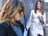 """Jennifer Aniston mocks U.S. airlines and brags about the luxury of Emirates Caption: Jennifer Aniston, American sweetheart, is starring in a new television ad for Emirates airlines.  A celebrity promoting luxury airline service may make you say """"So what?"""" but this is a more controversial advertisement than is immediately apparent. In the ad, Aniston wanders around an airplane cabin on a U.S. carrier looking for the shower. When she asks the flight crew for help, they laugh at her ? and offer her peanuts.  SEE ALSO: The Best Airline Seat That $21,000 Can Buy  Translation: Emirates is so much better than U.S. carriers.  In the ad, Aniston ? who signed a $5 million contract with Emirates in August ? describes the experience of a showerless aircraft as """"such a nightmare"""" when she wakes up in her lie-flat bed on an Emirates plane.  When the flight crew says there is no shower, Aniston responds: """"Well, I'm going to look pretty silly dressed like this going to the bar."""" You can guess the res"""