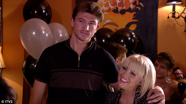 Young love: Lydia gushes about her new boyfriend, Tom Kilbey, to best friend Lucy