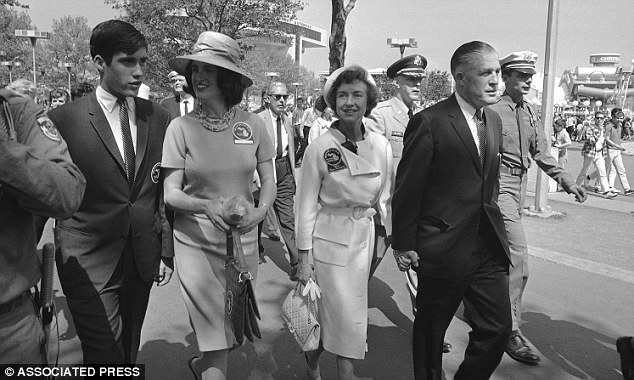Family man: From right, Michigan Governor George Romney, his wife Lenore, daughter Lynn and son Mitt in New York, 1964