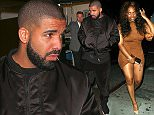 Rapper Drake seen clubbing with a mystery woman at the Nice Guy nightclub ,in West Hollywood, CA  Ref: SPL1149018  111015   Picture by: Roshan Perera / Splash News  Splash News and Pictures Los Angeles: 310-821-2666 New York: 212-619-2666 London: 870-934-2666 photodesk@splashnews.com