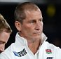 Rugby World Cup 2015, England v Australia, 3 October 2015. Twickenham. London.  Picture Andy Hooper Daily Mail/ Solo Syndication A dejected Stuart Lancaster England Head Coach