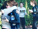143605, EXCLUSIVE: Lena Dunham greets Emma Stone as they meet up for some girls time in Los Angeles. Los Angeles, California - Sunday October 11, 2015. Photograph: Pedro Andrade, © PacificCoastNews. Los Angeles Office: +1 310.822.0419 sales@pacificcoastnews.com FEE MUST BE AGREED PRIOR TO USAGE