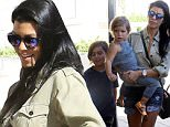 Kourtney Kardashian and the kids meet friends at Barneys for some shopping. Recently, she was spotted spending time with Justin Bieber. Are they dating? \n Sunday, October 11, 2015. X17online.com