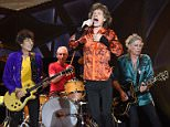 RALEIGH, NC - JULY 01:  Ronnie Wood, Charlie Watts, Mick Jagger, and Keith Richards of The Rolling Stones perform at Carter Finley Stadium on July 1, 2015 in Raleigh, North Carolina.  (Photo by Chris McKay/Getty Images)