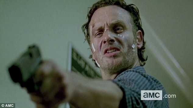Big reveal: The trailer for season six of the Walking Dead was unviled during Comic-Con International in San Diego, California on Friday