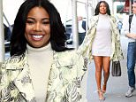 Gabrielle Union spotted all smiling while heading to the nail's salon in chelsea, New York City\n\nPictured: Gabrielle Union\nRef: SPL1149647  121015  \nPicture by: Felipe Ramales / Splash News\n\nSplash News and Pictures\nLos Angeles: 310-821-2666\nNew York: 212-619-2666\nLondon: 870-934-2666\nphotodesk@splashnews.com\n