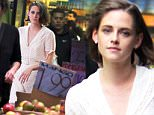 """Kristen Stewart shopping at the grocery store during her lunch break at the """"Untitled Woody Allen Project"""" set in Amsterdam Avenue, Manhattan. (Also pictured on set is Tony Sirico)\n\nPictured: Kristen Stewart\nRef: SPL1149672  121015  \nPicture by: Jose Perez / Splash News\n\nSplash News and Pictures\nLos Angeles: 310-821-2666\nNew York: 212-619-2666\nLondon: 870-934-2666\nphotodesk@splashnews.com\n"""