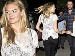 EXCLUSIVE: Kate Upton and her boyfriend Pro Base ball player Justin Verlander seen leaving dinner with friends at 'Mozza' Restaurant in Los Angeles, CA\n\nPictured: Kate Upton\nRef: SPL1148578  121015   EXCLUSIVE\nPicture by: SPW / Splash News\n\nSplash News and Pictures\nLos Angeles: 310-821-2666\nNew York: 212-619-2666\nLondon: 870-934-2666\nphotodesk@splashnews.com\n