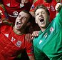 Football - Bosnia & Herzegovina v Wales - UEFA Euro 2016 Qualifying Group B - Stadion Bilino Polje, Zenica, Bosnia & Herzegovina - 10/10/15  Wales celebrate after qualifying for UEFA Euro 2016  Action Images via Reuters / Matthew Childs  Livepic  EDITORIAL USE ONLY.
