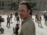 """LOS ANGELES, CA ñ October 11, 2015: The Walking Dead Rick and the others have a difficult time assimilating into Alexandria. A new threat arises that could bring the group closer together. Rick Grimes is a former Sheriff's deputy who has been in a coma for several months after being shot while on duty. When he wakes, he discovers that the world has been taken over by zombies, and that he seems to be the only person still alive. After returning home to discover his wife and son missing, he heads for Atlanta to search for his family. Narrowly escaping death at the hands of the zombies on arrival in Atlanta, he is aided by another survivor Glenn who takes Rick to a camp outside the town. There Rick finds his wife Lori and son Carl, along with his partner/best friend Shane and a small group of survivors who struggle to fend off the zombie hordes; as well as competing with other survivor groups who are prepared to do whatever it takes to survive.  Photograph:©AMC """"Disclaimer: CM does not c"""