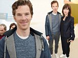 Mandatory Credit: Photo by Richard Young/REX Shutterstock (5234641h)  Benedict Cumberbatch & Sophie Hunt  Frieze Art Fair, Regents Park, London, Britain - 13 Oct 2015
