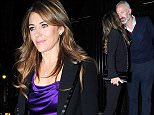 13 Oct 2015  - LONDON  - UK\n*** EXCLUSIVE ALL ROUND PICTURES ***\nLIZ HURLEY SPOTTED SAYS GOODBYE TO A MYSTERY MAN AFTER ENJOYING A NIGHT OUT AT THE CHILTERN FIREHOUSE\nBYLINE MUST READ : XPOSUREPHOTOS.COM\n***UK CLIENTS - PICTURES CONTAINING CHILDREN PLEASE PIXELATE FACE PRIOR TO PUBLICATION ***\n**UK CLIENTS MUST CALL PRIOR TO TV OR ONLINE USAGE PLEASE TELEPHONE  442083442007