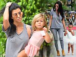 Kourtney Kardashian arrives to dance class with North West and Penelope Disick in Los Angeles, CA\n\nPictured: Kourtney Kardashian arrives to dance class with North West and Penelope Disick in Los Angeles, CA\nRef: SPL1151141  141015  \nPicture by: DutchLabUSA / Splash News\n\nSplash News and Pictures\nLos Angeles: 310-821-2666\nNew York: 212-619-2666\nLondon: 870-934-2666\nphotodesk@splashnews.com\n