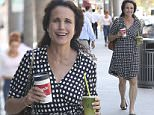Andie MacDowell has her hands full whilst shopping in Beverly Hills, California  Pictured: Andie MacDowell Ref: SPL1151098  131015   Picture by: Splash News  Splash News and Pictures Los Angeles: 310-821-2666 New York: 212-619-2666 London: 870-934-2666 photodesk@splashnews.com