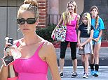 Denise Richards with her daughters, Sam and Lola and dad Irv visit CVS in Malibu. October 13, 2015 X17online.com