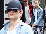 EXCLUSIVE: Jared Leto rocks his pink hair out while grabbing lunch with a friend in Soho before heading to Kinesthesia Physio for some physical therapy. He tried to go unnoticed by covering his head with a black cap and sunglasses but then decided to let his hair breathe\n\nPictured: Jared Leto\nRef: SPL1150759  131015   EXCLUSIVE\nPicture by: BlayzenPhotos / Splash News\n\nSplash News and Pictures\nLos Angeles: 310-821-2666\nNew York: 212-619-2666\nLondon: 870-934-2666\nphotodesk@splashnews.com\n