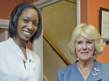 NEWS - REBECCA ENGLISH STORY - The Duchess of Cornwall is presented with a book' Rape Survivor' by it's author,Mia James.