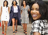 Gabrielle Union Arrives to AOL Build in NYC\nAOL Studio, NY\n\nPictured: Gabrielle Union\nRef: SPL1151210  141015  \nPicture by: Janet Mayer / Splash News\n\nSplash News and Pictures\nLos Angeles: 310-821-2666\nNew York: 212-619-2666\nLondon: 870-934-2666\nphotodesk@splashnews.com\n