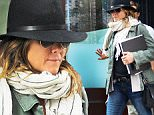 Jennifer Aniston coming of hotel in her wedding ring in nyc\n\nPictured: Jennifer Aniston\nRef: SPL1151693  141015  \nPicture by: @JDH Imagez / Splash News\n\nSplash News and Pictures\nLos Angeles: 310-821-2666\nNew York: 212-619-2666\nLondon: 870-934-2666\nphotodesk@splashnews.com\n