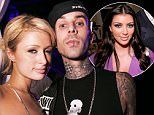 (EXCLUSIVE, Premium Rates Apply) Paris Hilton and Travis Barker (Photo by Chris Weeks/WireImage for Pure Managment Group)