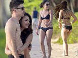 Pretty little Liar Janel Parrish and her boyfriend were spotted enjoying their first day in the islands of Hawaii. She wore a black bikini.  Pictured: Janel Parrish Ref: SPL1143900  141015   Picture by: starsurf / Splash News  Splash News and Pictures Los Angeles: 310-821-2666 New York: 212-619-2666 London: 870-934-2666 photodesk@splashnews.com