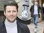 TOWIE's Mark Wright is pictured leaving a south  London pub with an injured ankle, following a meeting.\n\nPictured: Mark Wright\nRef: SPL1152345  151015  \nPicture by: Simon Earl / Splash News\n\nSplash News and Pictures\nLos Angeles: 310-821-2666\nNew York: 212-619-2666\nLondon: 870-934-2666\nphotodesk@splashnews.com\n