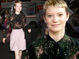 October 14, 2015:  Mia Wasikowska at NBC Studios in New York City during an appearance on 'The Today Show'.\nMandatory Credit: Dara Kushner/INFphoto.com      Ref.: infusny-05/42