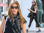 13 Oct 2015 - BEVERLY HILLS - USA *** EXCLUSIVE ALL ROUND PICTURES *** 'MODERN FAMILY' ACTRESS SOFIA VERGARA AT THE TANNING SALON IN BEVERLY HILLS! BYLINE MUST READ : XPOSUREPHOTOS.COM ***UK CLIENTS - PICTURES CONTAINING CHILDREN PLEASE PIXELATE FACE PRIOR TO PUBLICATION *** **UK CLIENTS MUST CALL PRIOR TO TV OR ONLINE USAGE PLEASE TELEPHONE  44 208 344 2007**