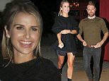 VOGUE WILLIAMS AND BRIAN MCFADDEN SEEN LEAVING STEAM AND RYE RESTAURANT IN CENTRAL LONDON.BRIAN AND VOGUE LEFT AROUND 1AM AND WAS PARTYING WITH MADE IN CHELSEA STAR OLLIE LOCK. WEDNESDAY 14TH OCTOBER 2015 - MAGICMOMENTSUK - 07753 30 30 77
