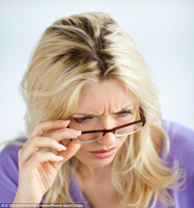 Most people in their 50s begin wearing reading glasses  for close work due to presbyopia (file photo)