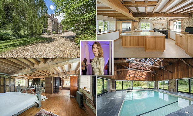 Natalia Vodianova's country pile in Selham in West Sussex goes on sale for £3M
