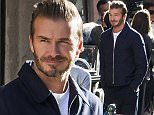 Mandatory Credit: Photo by Nuno Pinto Fernandes/REX Shutterstock (5244319b)  David Beckham  David Beckham filming a commercial for H & M in Lisbon, Portugal - 14 Oct 2015  David Beckham filming an advertising campaign for H & M on Sao Paulo Street in Lisbon