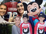 ANAHEIM, CA - OCTOBER 14:  In this handout image provided by Disneyland Resort, Celine Dion and twin sons Eddy (L) and Nelson, age 4, celebrate the boys' upcoming fifth birthday with Mickey Mouse at Disneyland park in Anaheim, Calif. on Wed. The Disneyland Resort Diamond Celebration celebrates 60 years of magic now through September 5, 2016. (Photo by Scott Brinegar/Disneyland Resort via Getty Images)