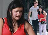 Picture Shows: Laurent Claude Gaudette, Ariel Winter  October 14, 2015    'Modern Family' actress Ariel Winter and her boyfriend Laurent Claude Gaudette stop by a nail salon in Hollywood, California.     Make up free Ariel dressed down in a red tank top, loose fitting pants and flip flops.    Exclusive - All Round  UK RIGHTS ONLY    Pictures by : FameFlynet UK © 2015  Tel : +44 (0)20 3551 5049  Email : info@fameflynet.uk.com