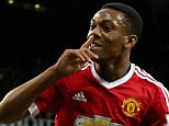 Manchester United's new signing Anthony Martial scores their 3rd goal.   Premier League: Manchester United v Liverpool (3-1) Sept 12th 2015 - Manchester, UK Picture by Ian Hodgson/Daily Mail