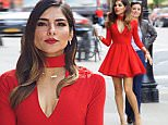 ***MANDATORY BYLINE TO READ INFPhoto.com ONLY***\nOlivia Culpo sports a stunning red dress in Tribeca, New York City.\n\nPictured: Olivia Culpo\nRef: SPL1151758  141015  \nPicture by: Alberto Reyes/INFphoto.com\n\n