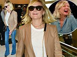 Kristen Dunst  making weird faces at LAX arriving for a flight alone. Kirsten Dunst didnÌt have to sweat off the pounds at the gym to prep for her latest role. ÏI just sat in bed, watched ÎFriday Night Lights,Ì and, like, ate,Ó the ÏFargoÓ actress told Jimmy Kimmel about gaining weight for her part in Season 2 of the FX series. ÏI was in Calgary. It was cold, so I ordered in a lot of pizza and grilled cheese. I just had different cheeses and breads together.Ó October14, 2015 X17online.com