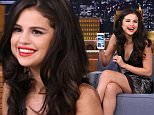 THE TONIGHT SHOW STARRING JIMMY FALLON -- Episode 0350 -- Pictured: (l-r) Actress Selena Gomez during an interview with host Jimmy Fallon on October 14, 2015 -- (Photo by: Douglas Gorenstein/NBC/NBCU Photo Bank via Getty Images)