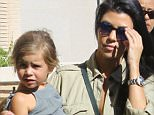 Kourtney Kardashian and the kids meet friends at Barneys for some shopping. Recently, she was spotted spending time with Justin Bieber. Are they dating?   Sunday, October 11, 2015. X17online.com