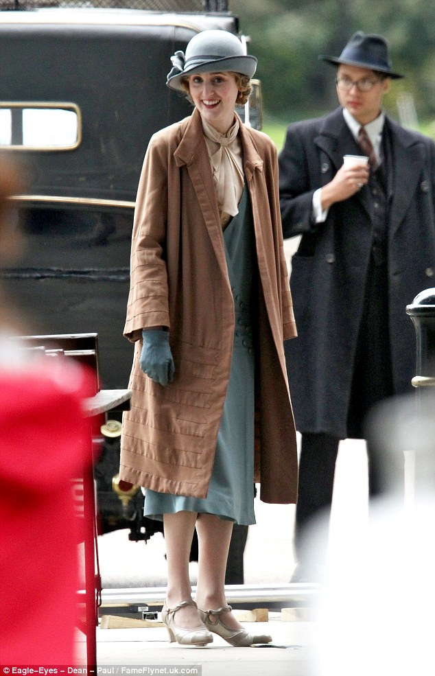 Wedding guest! Laura Carmichael was spotted filming scenes for the nuptials of Mr Carson and Mrs Hughes in the new season of Downton Abbey