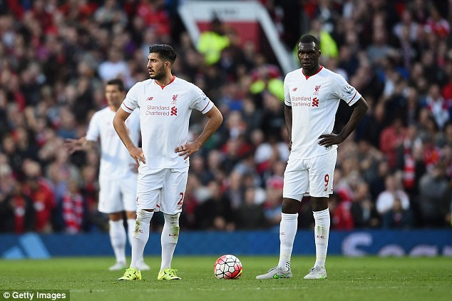 The Reds find it hard to attract the best players, with Christian Benteke (right) the best striker they could get