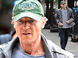 EXCLUSIVE: Liam Neeson Looking Healthy Jogging Home in NYC  Pictured: Liam Neeson  Ref: SPL1151719  141015   EXCLUSIVE Picture by: @JDH Imagez / Splash News  Splash News and Pictures Los Angeles: 310-821-2666 New York: 212-619-2666 London: 870-934-2666 photodesk@splashnews.com