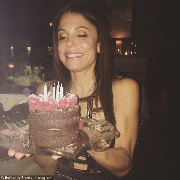 Standing firm: Bethenny posted this photo in response to Tuesday night's episode, writing: 'Yo shorty, it's my birthday! I can invite whoever I want on my birthday! (Well, it is not ACTUALLY my birthday, just on TV it is)'